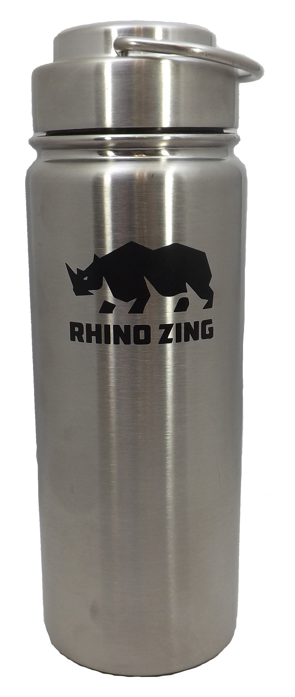 Rhino Zing 18-Ounce Beer Growler Stainless Steel Water Bottle with Stainless Steel Lid. Insulated, Wide Mouth by Rhino Zing (Image #3)