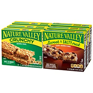 Nature Valley, Sweet & Salty Dark Chocolate Peanut Almond, Bulk Gift (Pack of 6)