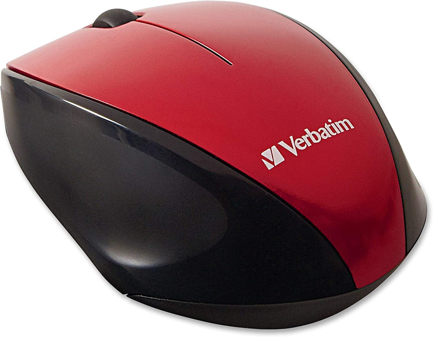 Red VER97995 Verbatim Wireless Notebook Multi-Trac Blue LED Mouse