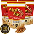 Wheat Nuts, 100% Nut Free Snack, Peanut Allergy Safe, No cholesterol, Crunchy Good Nutty Taste, Nutritious, 8oz Resealable Bags (3 Bags)