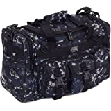 "Mens 18"" Inch Navy Digital Camo Military Molle Tactical Gear Shoulder Strap Travel Bag with Key Ring Carabiner"