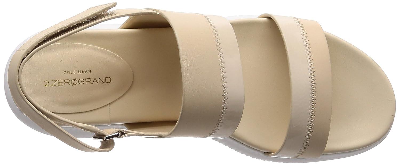 Cole Haan Women's 2.Zerogrand Slide Sport Sandal, Black Leather B079Q8VRXN 10 B(M) US Brazilian Sand-optic White