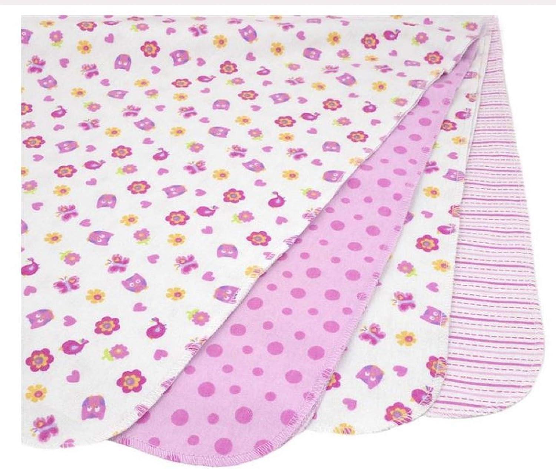 Pink Owl Koala Baby 4-Pack Flannel Receiving Blankets