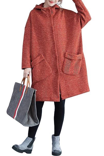 sale retailer ccded bb29c Cappotto Oversize Donna Moda Stile Impero Cardigan Manica ...
