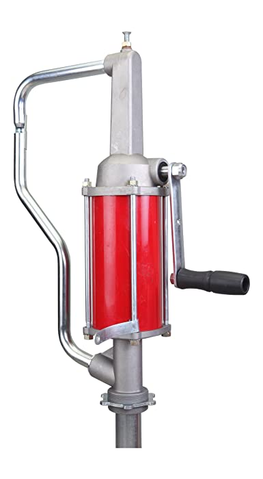 Action Pump QS-1 Pro-Lube Hand Operated Drum Pump, Rotary Action, Max Pressure 10 psi, Max Viscosity 2000 SSU, Inlet Size 3/4 in FNPT, Outlet Size 1/2 in FNPT, for Use On 15 to 55 gal. Drums