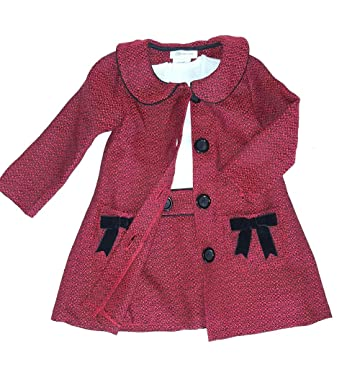 3f130614c Amazon.com: Bonnie Baby Baby Girls Newborn-24 Months Boucle' Coat and Dress  Set: Clothing