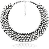Fun Daisy Grand UK Princess Kate Middleton Hot Silver Rhinestone Fashion Necklace