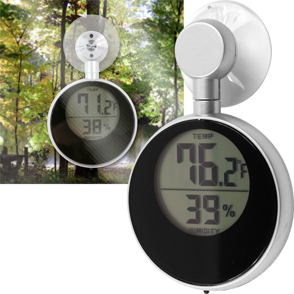 Terra Trade 72-7118 Solar Powered Window Thermometer
