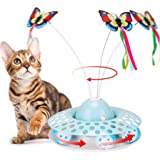 Interactive Cat Toys - Automatic Electric Rotating Butterfly & Ball Exercise Kitten Toy,Funny Cat Teaser Toys for Indoor…