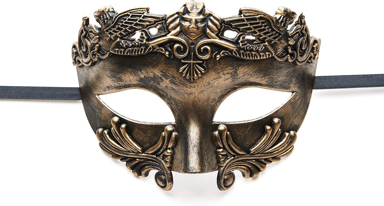 Antique Silver Roman Warrior Masquerade Mask Mardi Gras Masquerade Mask for Men Mardi Gras Mask Masquerade Mask