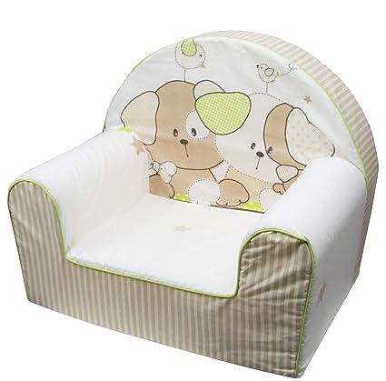 Bubaba – Sillón para niños, 12 diseños diferentes, espuma estable – súper ligero de solo 1 kg – fabricado en la UE Cachorro