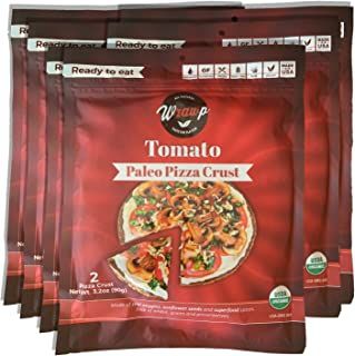 product image for Paleo Pizza Crust | 6 Pack Tomato Flavored Organic Gluten Free, Dairy Free, Soy Free, Nut Free and Vegan Pizza Crust