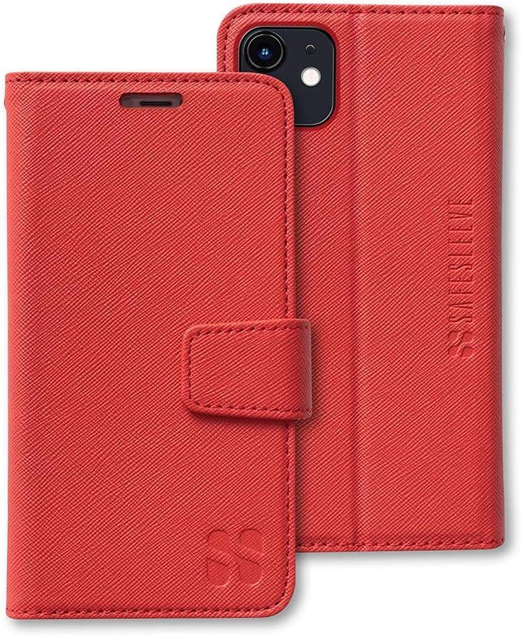 SafeSleeve EMF Protection Anti Radiation iPhone Case: iPhone 11 RFID EMF Blocking Wallet Cell Phone Case (Red)