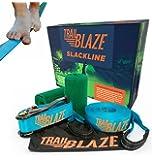 Trailblaze Slackline Kit with Tree Protectors + Carry Bag   Kids Slack Line for Healthy Outdoor Fun   50 feet Easy Set-up Slacklines   Complete Set for Family Adults Children