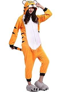ee9c4b5add Pijama Animados Kigurumi Cosplay Tigre de Bengala Animal para Adulto Unisex