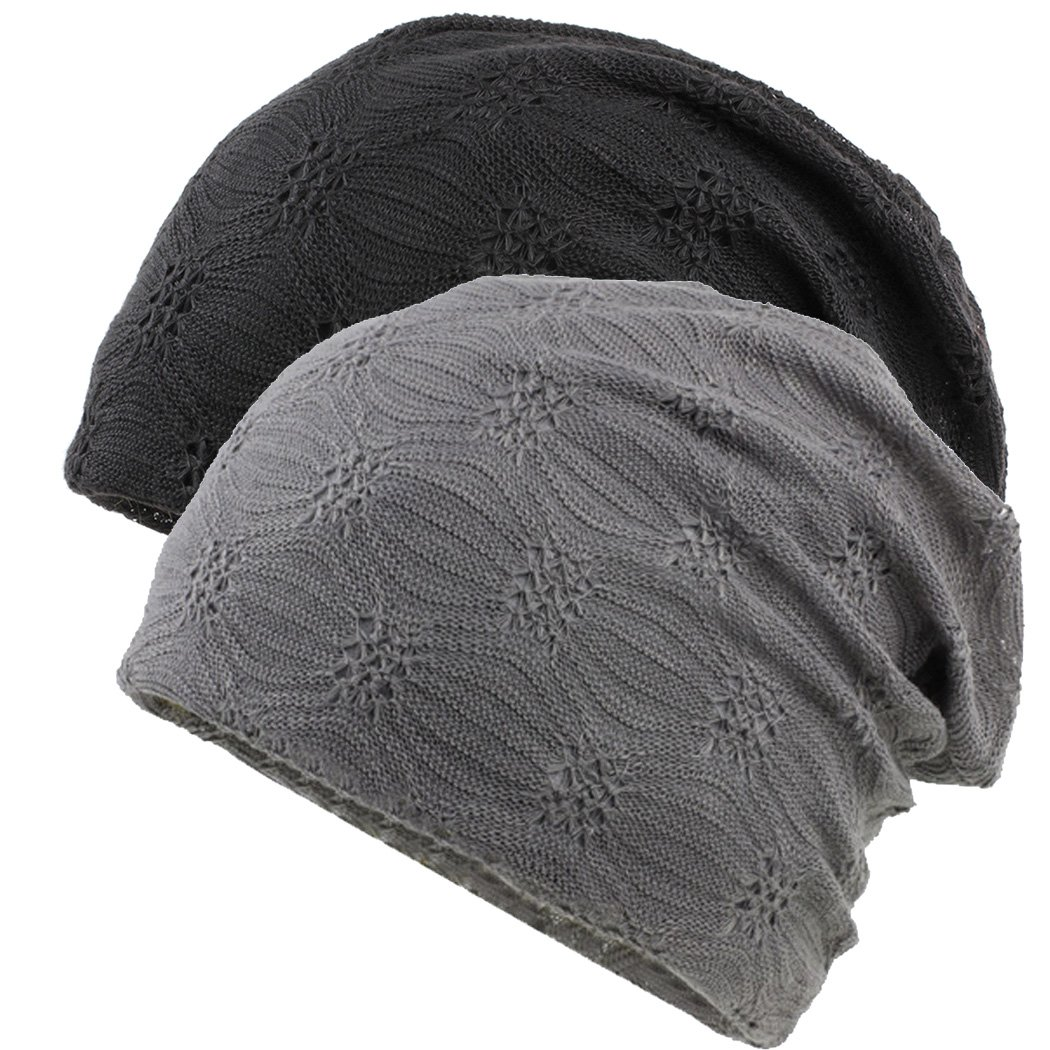 B+W BW Women Cotton Head Cap Chemo Beanie Cancer Hat