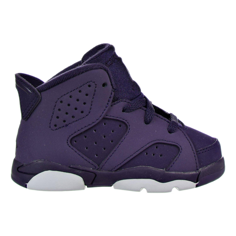 Jordan Girls 6 Retro Toddler Athletic Shoes Purple 8 Medium (B,M) Toddler