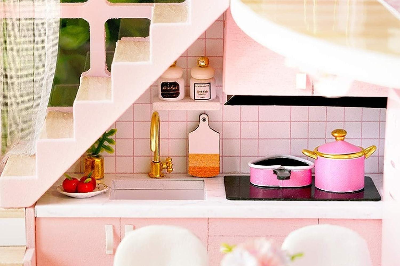 YWJHY DIY Hut Pink Girl Dream Angel Madera Hecha a Mano Villa Loft Modelo,Rosado,Un tamaño: Amazon.es: Deportes y aire libre