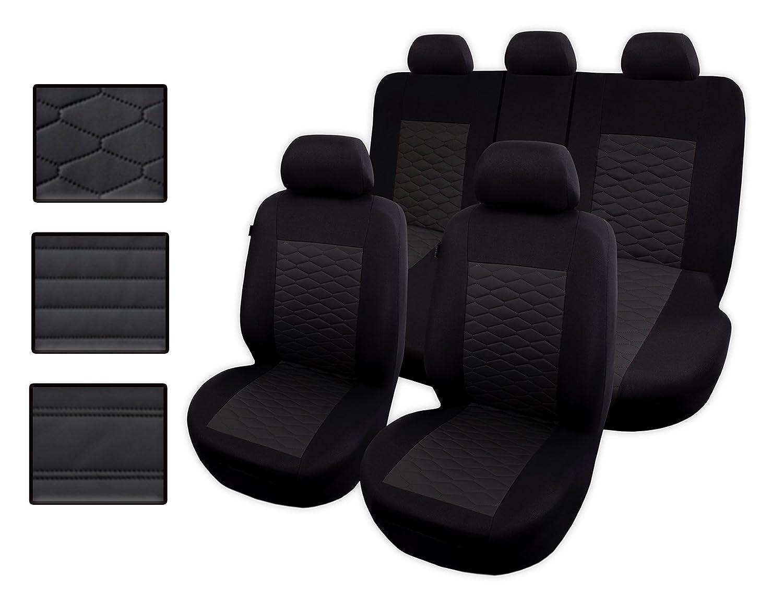 Sitzbezü ge Auto universal Set Autositzbezü ge Schonbezü ge schwarz Vordersitze und Rü cksitze mit Airbag System - Modern MG 1 Auto-Dekor