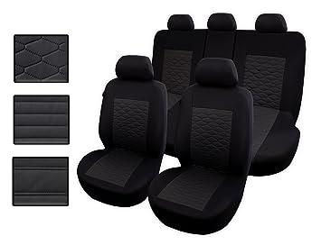 Sitzbezüge Sitzbezug Schonbezüge für Renault Clio Schwarz Modern MC-1 Set