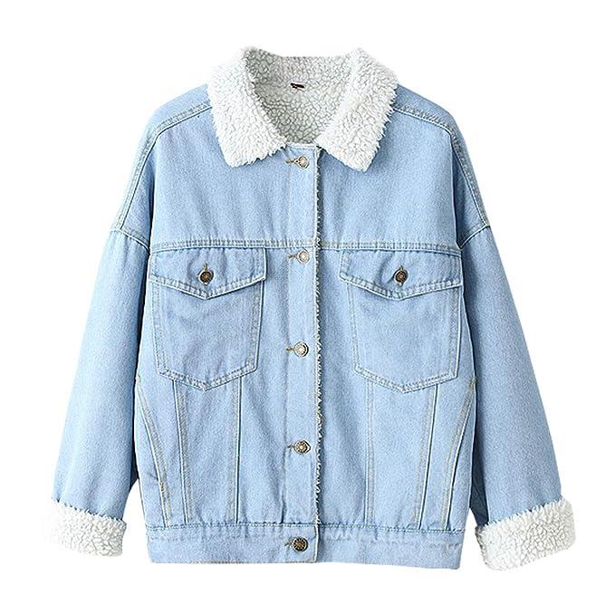 reputable site b7e11 1fc9a Comradesn Donna Giacche e Cappotti Giacca di Jeans con ...