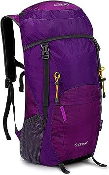 G4Free 40L Mochila Ultra Ligero de Senderismo con Cubierta Lluvia Resistente al Agua Plegable para Excursión Trekking Camping Escalada Viaje
