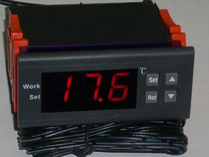 Controlador de temperatura y tiempo termómetro madera chimenea estufa tubería alerta caldera de combustión agua