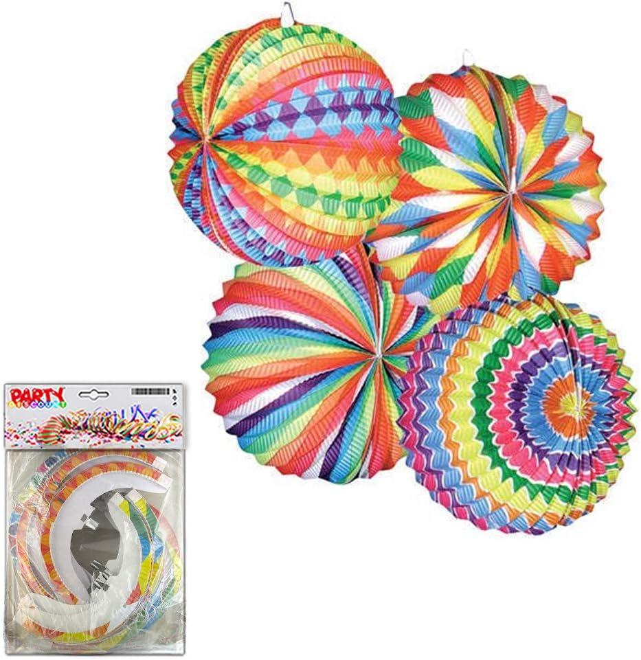 PARTY DISCOUNT /® Lampion Bunter Ballon rund /Ø 22 cm SPAR-PACK mit 12 St/ück