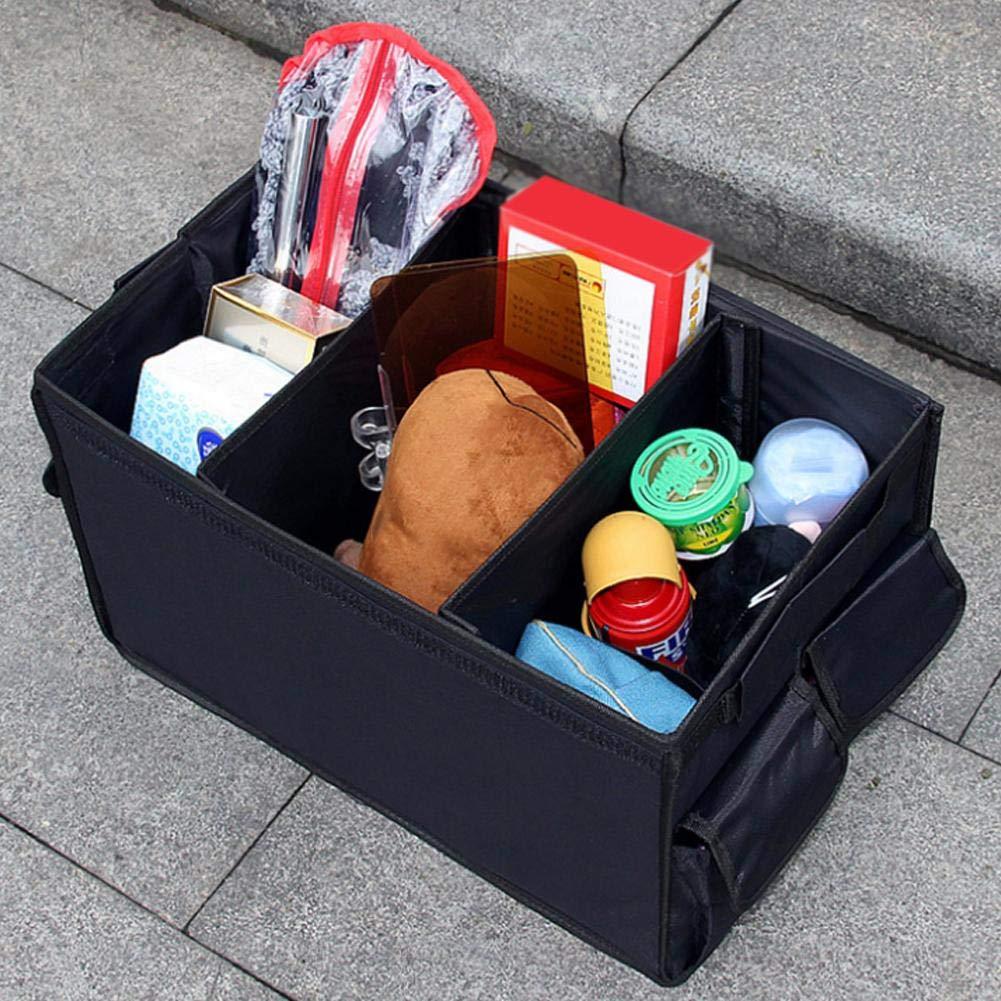 lembrd Kofferraumtasche Mit Deckel,Kofferraum-Organizer Mit F/ächern,Faltbare Autotasche Autobox Mit Rutschfestem Boden f/ür Auto