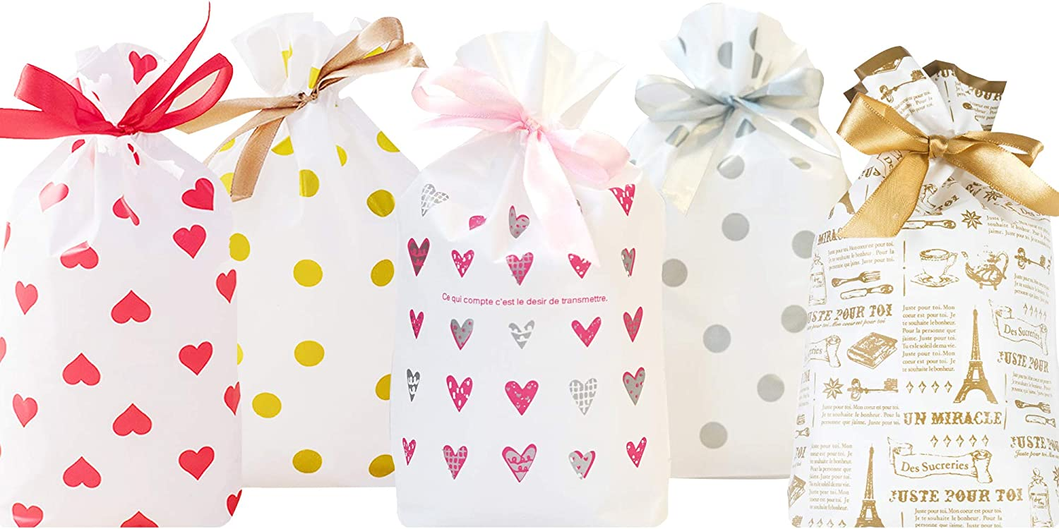 Soomeir 50 Pcs Party Favor Treat Bags with Satin Drawstring, Goodie Bags, Birthday Party Supplies, Tea Party, wedding