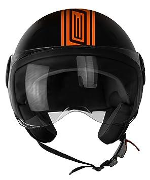 Origine Helmets 201585025300104 Neon Street casco Demi Jet, Naranja, ...