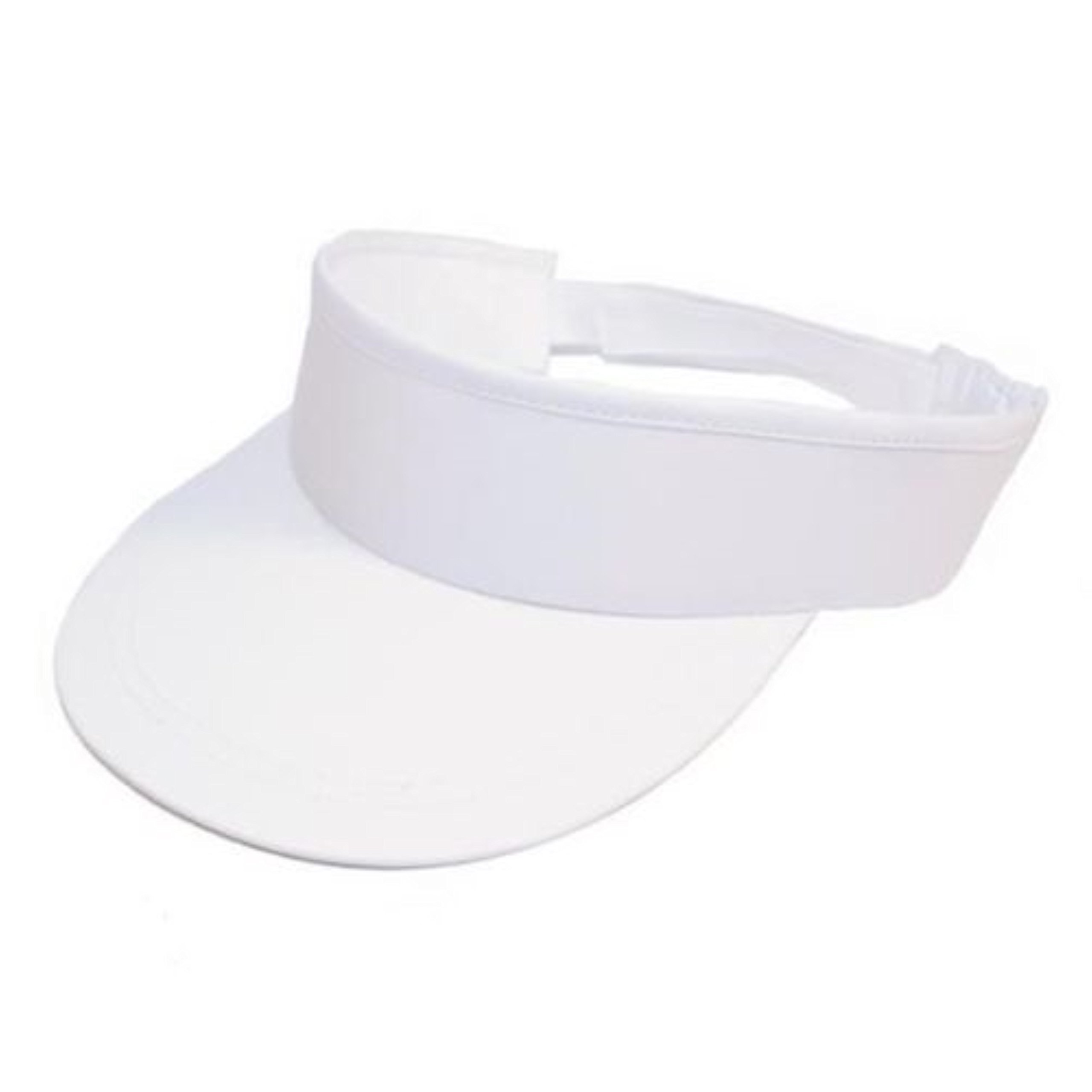 083878a5157 Visor Cotton Sun Peaked Hat Golf Tennis Sports Headband (White) product  image