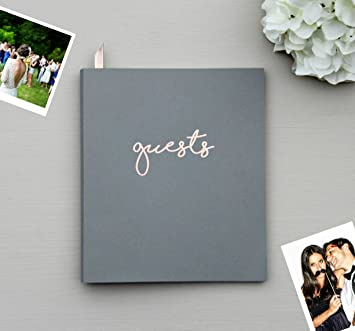 Amazoncom Photo Guest Book Softcover Flat Lay Cardstock Small