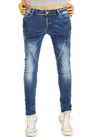 ba45f92007d9 bestyledberlin Zip Baggy Hüftjeans Relaxed Fit - Lockere Performance ...