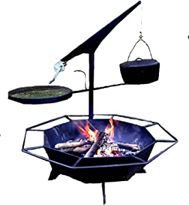 Best Performance Ultimate Fire Pit Outdoor Fire Place Campfire Ring and Cooker with Accessories