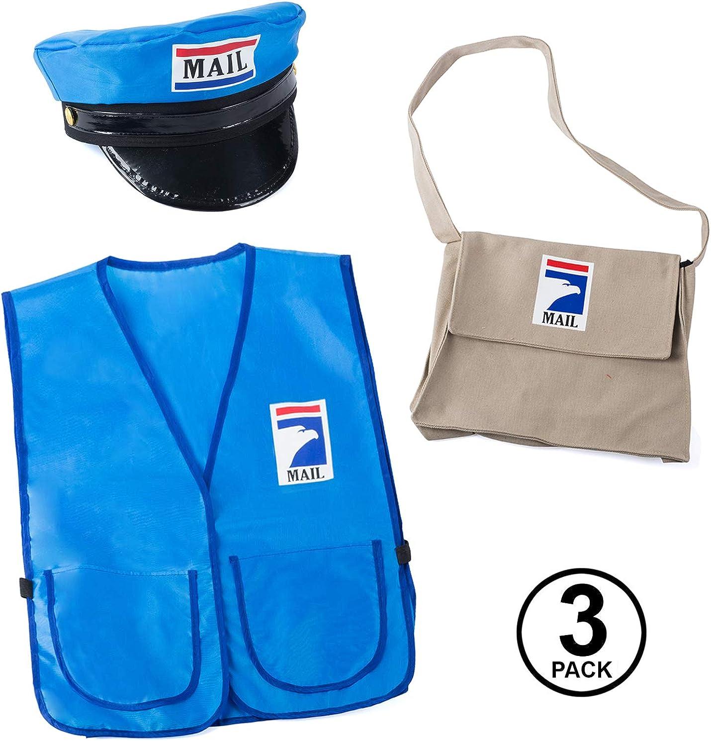 Mr Dress Up Tigerdoe Mailman Costume for Kids Postman Costume Carreer Day Occupational Costume