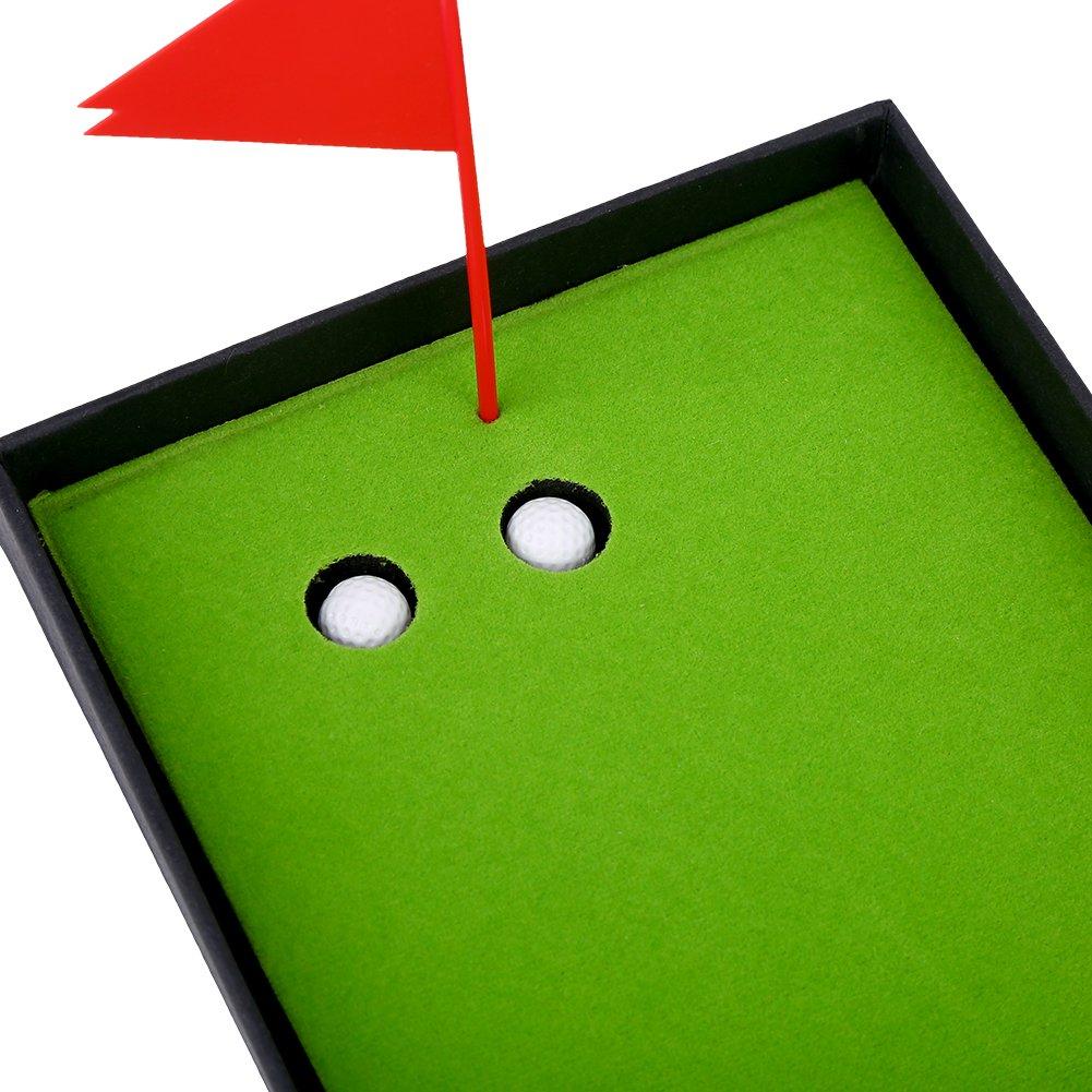 Golf Pen Set, Mini Golf Balls Toy Desktop Golf Gift set includes Putting Green,Flag,3 Golf Clubs Pens & 2 Balls by VGEBY (Image #6)