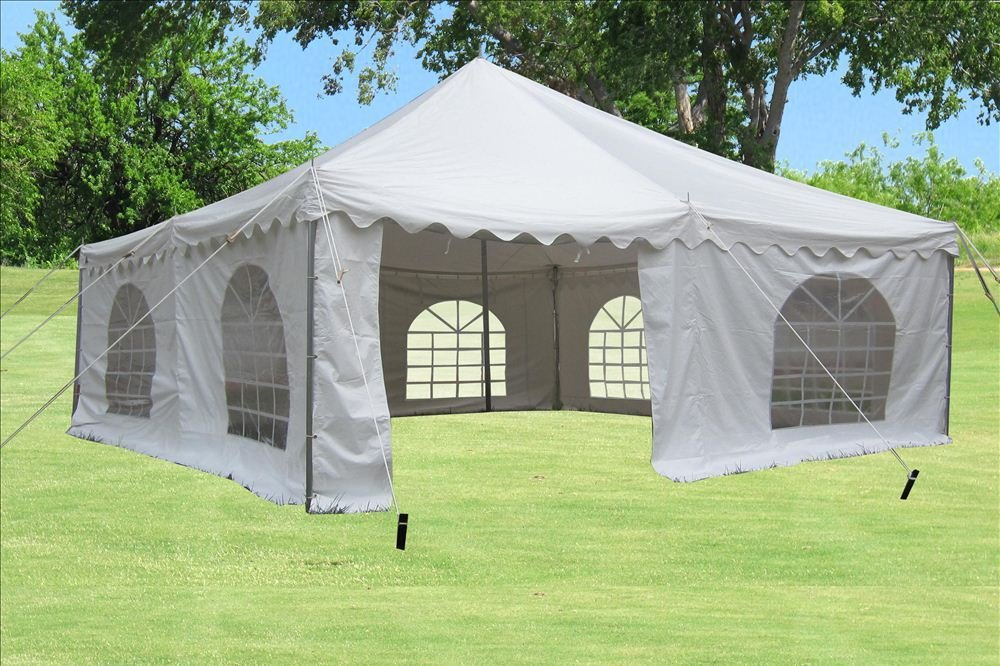 Amazon.com  20u0027x20u0027 PVC Pole Tent - Heavy Duty Wedding Party Canopy Shelter White - with Storage Bags - By DELTA Canopies  Family Tents  Garden u0026 Outdoor : 20 by 20 canopy - memphite.com