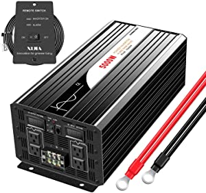 Xijia 5000W (Peak 10000W) Pure Sine Wave Power Inverter DC 12V 24V 48V to AC 120V 60HZ Solar Converter for Home Use car (DC 48V to AC 120V)