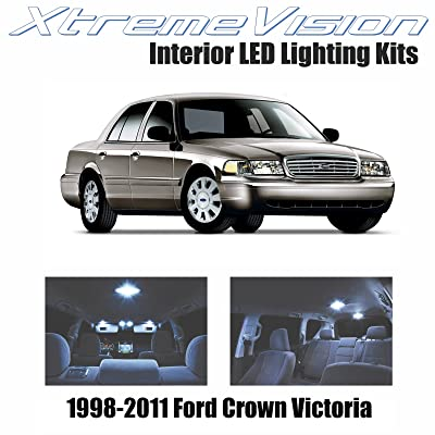 Xtremevision Interior LED for Ford Crown Victoria 1998-2011 (10 Pieces) Cool White Interior LED Kit + Installation Tool: Automotive