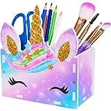 ICOSY Pencil Holder Organizer Kids Girl Unicorn Makeup Brush Holder for Girls Cosmetic Pen Organizer Desk Supplies Storage Or