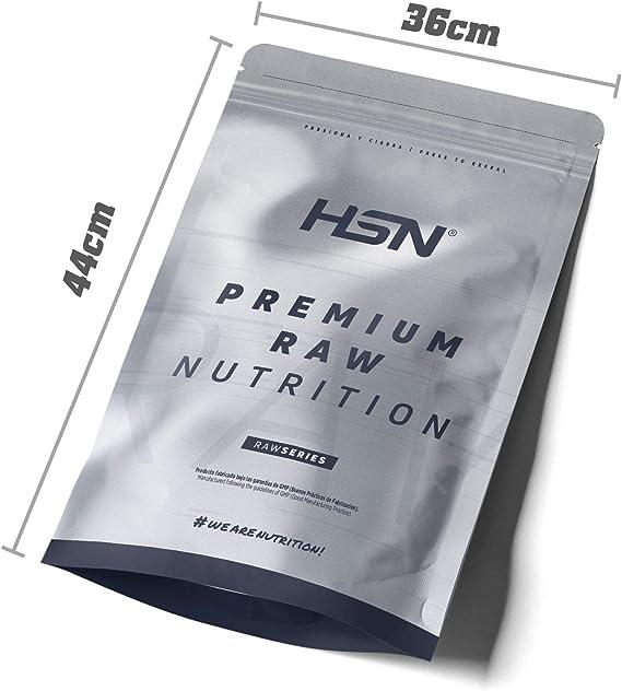 Caseína Micelar de HSN | Proteína de Lenta Digestión | Ideal para Antes de Dormir | Sin Edulcorantes Sin Endulzantes | Vegetariano, Sin Gluten, Sin ...