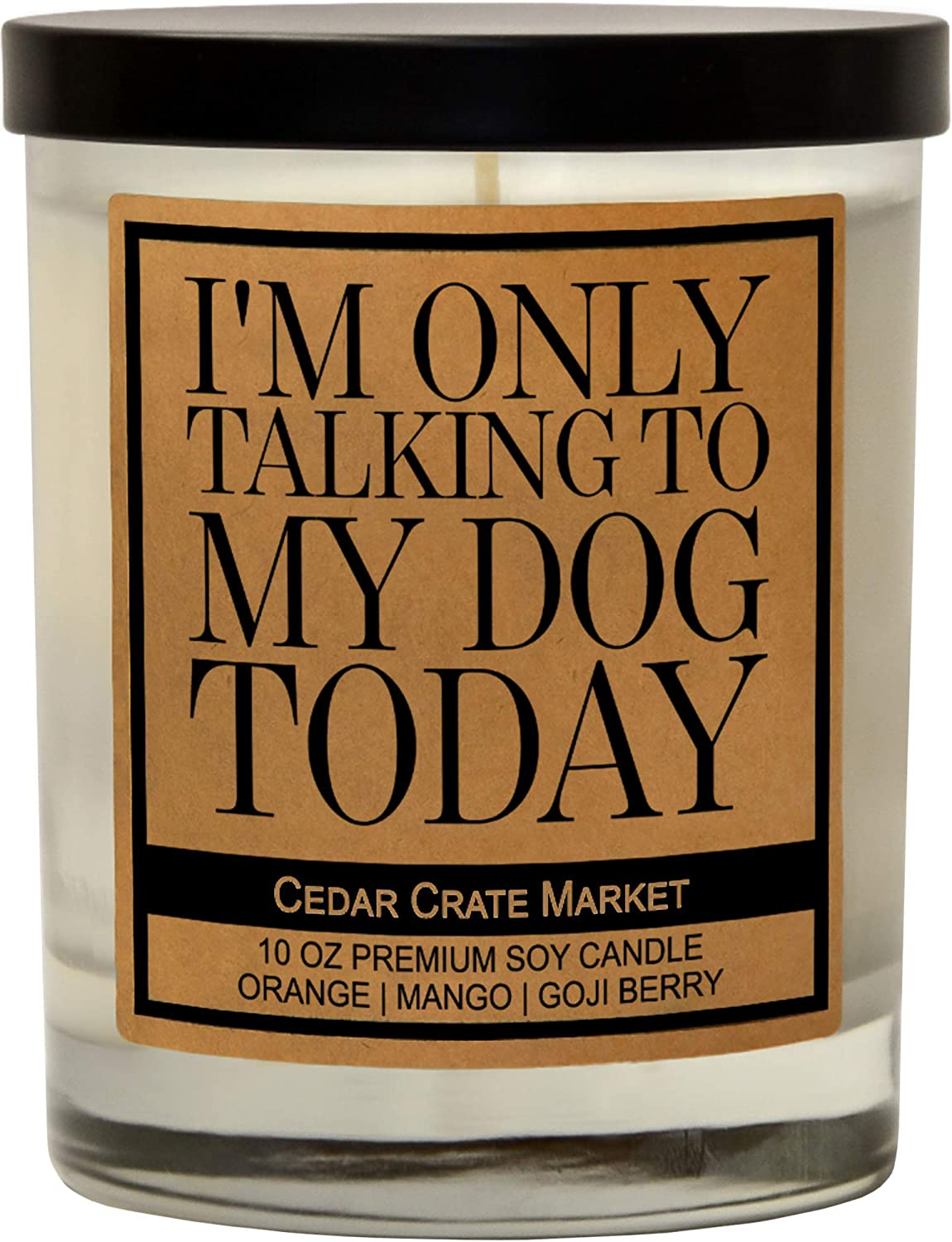 I'm Only Talking to My Dog Today - Funny Dog Candles Gifts for Women, Men, Dog Lovers, Pet Candle for Home, House, Dog Mom Gifts, Pet Mom,Fur Mamas, Dog Dads, Foster, Rescue, Adoption Pet Families