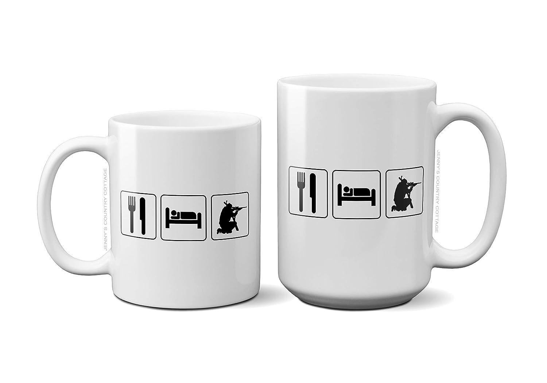 Amazon Eat Sleep Hunt Coffee Tea MugBirthday Gift For MenWomenMomDadSisterBoyfriend 11oz Or 15oz Ceramic Cup Handmade