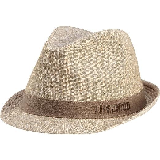 Amazon.com  Life is good Men s Linen Fedora 544b480133b