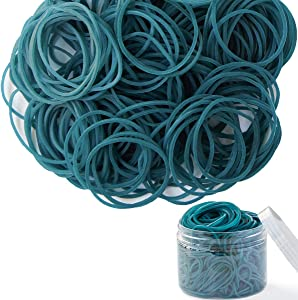 Rubber Bands 300pcs Blue Small Rubber Bands for Office School Home size16 Elastic Hair Band
