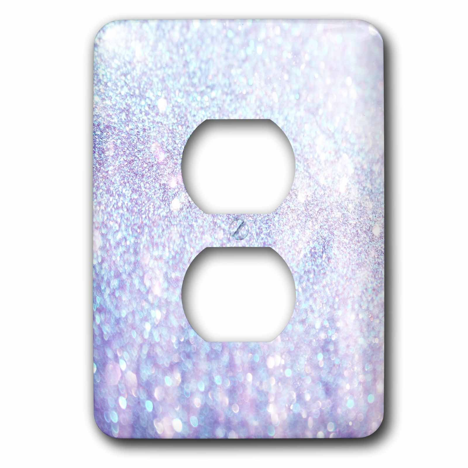 3D Rose lsp_252110_6 Luxury Diamond Glitter Sparkly 2 Plug Outlet Cover