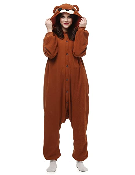 Belle House Brown Bear Pajamas Animal Costume Onesie Adults Sleepsuit Kigurumi Cosplay AC062