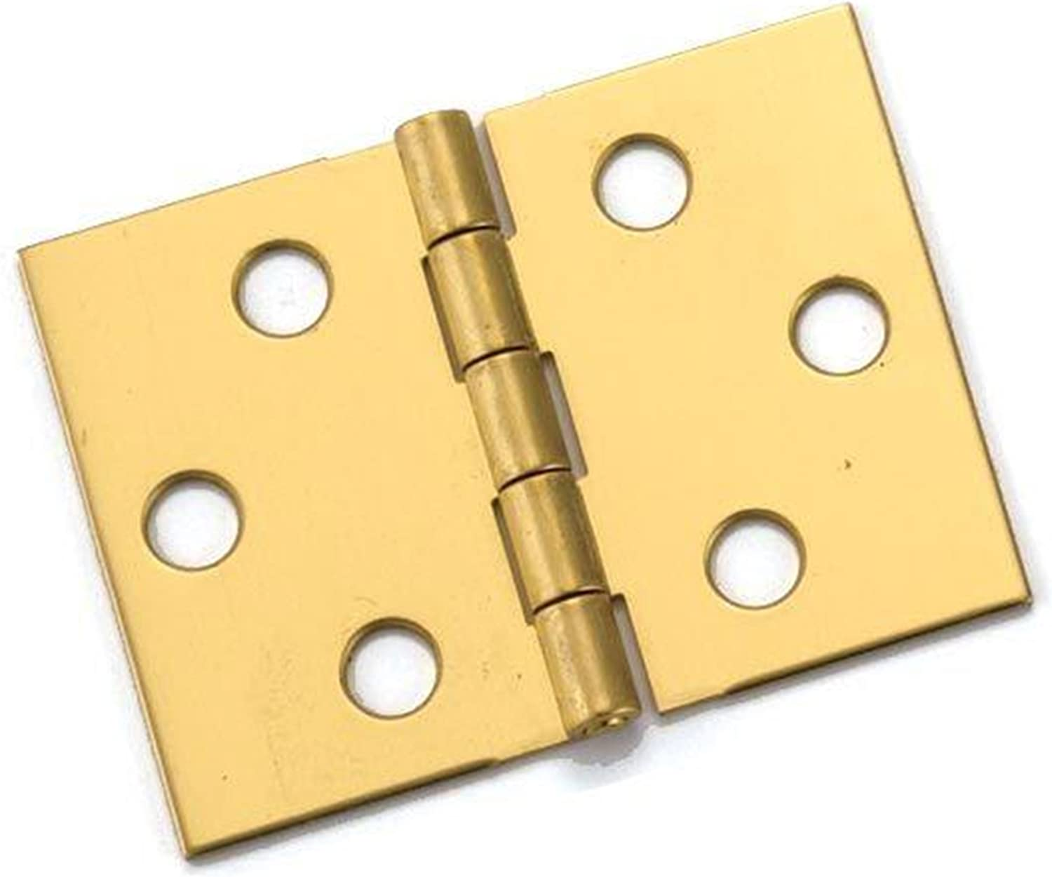"Brass Hinges 2//Pkg-1-1//4/"" Brass Finish"