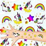 German Trendseller - 12 x Tatuajes temporales Unicornio ┃Fiesta Unicornio┃los Colores del Arco Iris┃ Fiestas Infantiles┃ Idea de Regalo┃piñata┃cumpleaños de niños┃ 12 Unidades…
